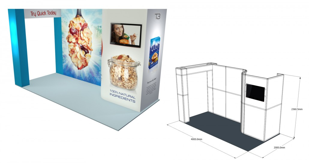 Small Modular Exhibition Stands : T modular display system