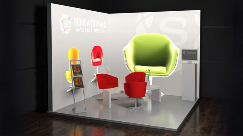 Fabric Exhibition Stand Goal : Octalumina illuminated led exhibition stand