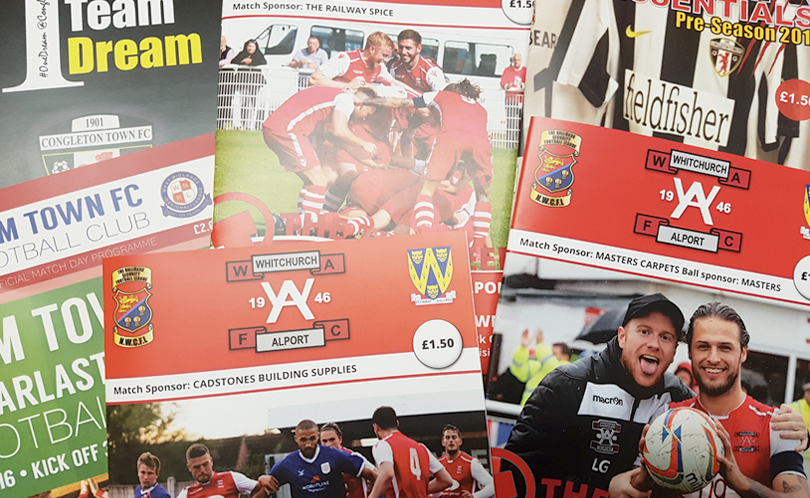 Printed Football Programmes