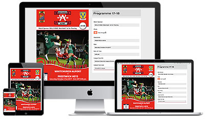 Whitchurch Alport Football Programmes web2print